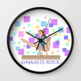 Gymnasts Rock! Wall Clock