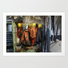 Working clothes, steam locomotives Art Print