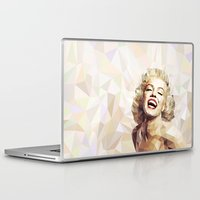 low poly Laptop & iPad Skins featuring Marilyn low poly by Pinkpulp
