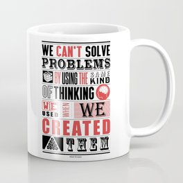 Lab No. 4 - Albert Einstein Inspirational Typography Quotes Poster Coffee Mug