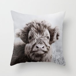 HIGHLAND CATTLE CALF ALF Throw Pillow