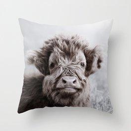 HIGHLAND CATTLE CALF ALF Throw Pillow