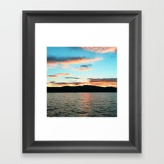 Lake George at Sunset Framed Art Print
