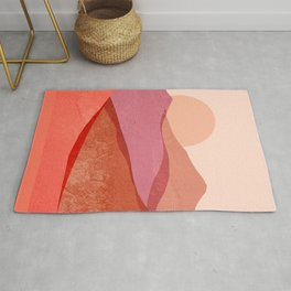 Abstraction_SUNSET_Mountains_Landscape_Minimalism_001 Rug