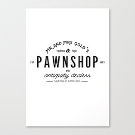 Rumbelle- Mr and Mrs Gold's Pawn Shop Canvas Print