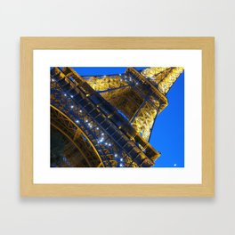 Eiffel Tower Sparkles Framed Art Print