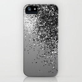 Sparkling Silver Gray Lady Glitter #1 #shiny #decor #art #society6 iPhone Case