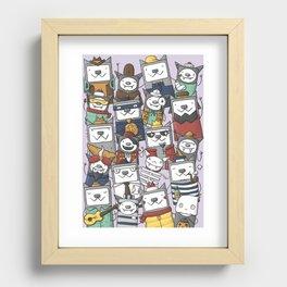 CATS'N'BATS Recessed Framed Print