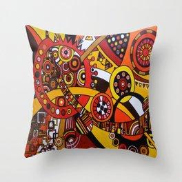Clockworks 1 Throw Pillow