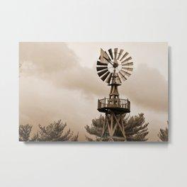 Power Wind Mill Metal Print