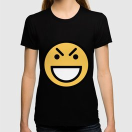 Smiley Face   Big Grinning Eyebrow Raised Face T-shirt