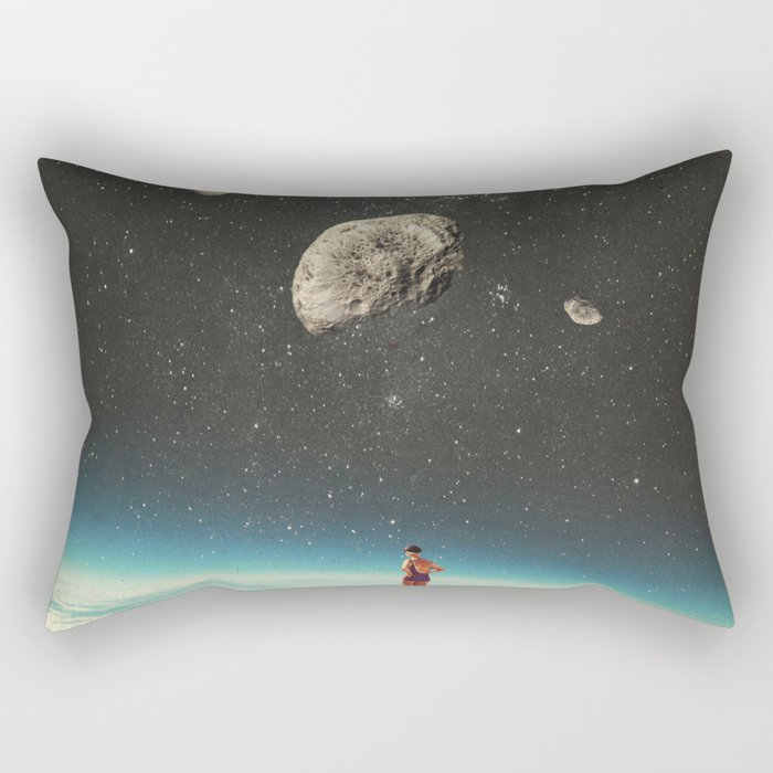 Summer with a Chance of Asteroids Rectangular Pillow