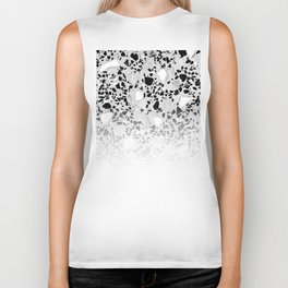 Concrete Terrazzo and Black and White Modern Monochrome Design Biker Tank