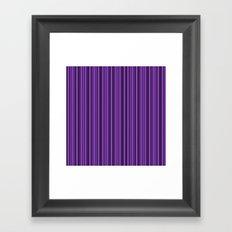 Purple Double Stripes Pattern Framed Art Print