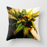 plant Throw Pillows featuring Plant by Chronic Cookie