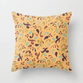 Swirls & Curls Throw Pillow
