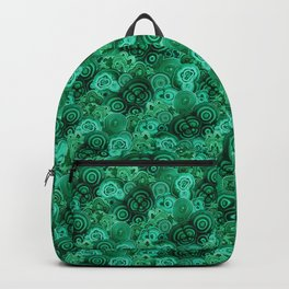 Malachite Swirls in Emerald Garden Backpack