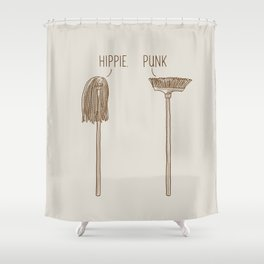 Hippie and Punk Shower Curtain