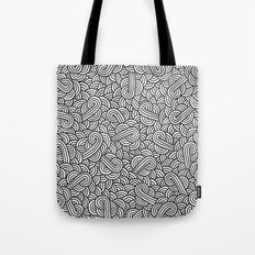Black and white swirls doodles Tote Bag