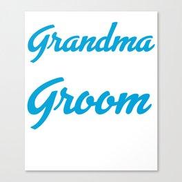 Grandma Of The Groom Canvas Print