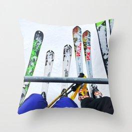 Ski All Day Throw Pillow