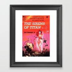 Vonnegut -  The Sirens of Titan Framed Art Print