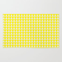 triangle bunting pattern    yellow & white Rug
