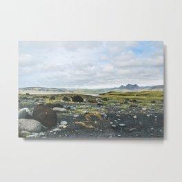 Volcanic Landscape Metal Print