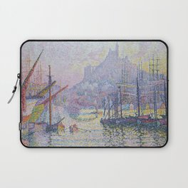 View of the Port of Marseilles Laptop Sleeve
