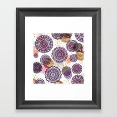 Fall Love Mandalas Framed Art Print