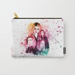 Rose Tyler Billie Piper inspired Mixed Media Watercolor  Carry-All Pouch
