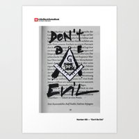 #20 - Don't be Evil Art Print