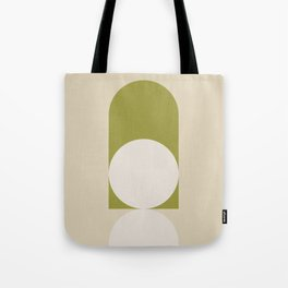 Contemporary Composition 05 - Golden Lime Tote Bag