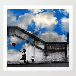 A Balloon to the Wind Art Print
