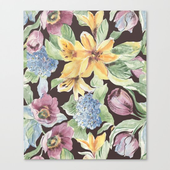fall lily Canvas Print