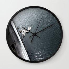 Into The Deep b&w Wall Clock
