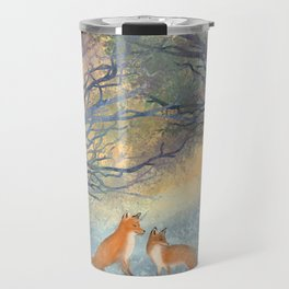 The Two Foxes Travel Mug