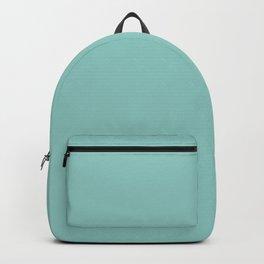 Greyish turquoise. Backpack