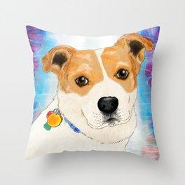 Cassie the dog Throw Pillow