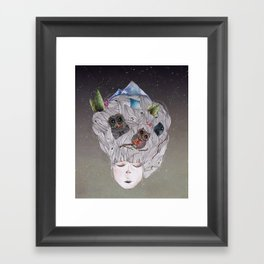 there are night-times inside me Framed Art Print