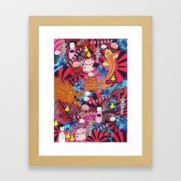 Japanese mash up Framed Art Print