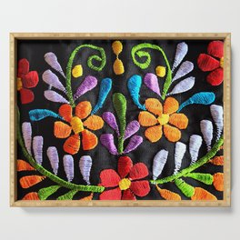 Mexican Flowers Serving Tray