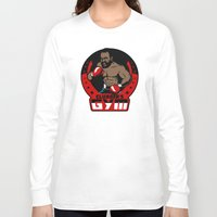 gym Long Sleeve T-shirts featuring Clubber's Gym by Buby87