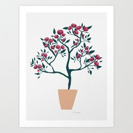 Potted Roses Art Print