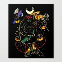 ganesha Canvas Prints featuring Ganesha by Ghavuri Kumar