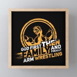 Arm Wrestling Wrist Turning Wristwrestling Indian Armwrestling Twisting Wrestler Gift Framed Mini Art Print