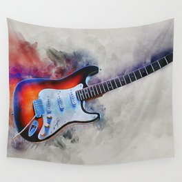 Electric Gitar Wall Tapestry