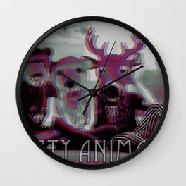 party animals Wall Clock