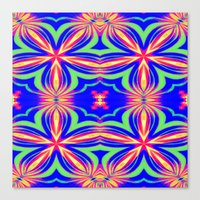 psychedelic Canvas Prints featuring Psychedelic  by 2sweet4words Designs