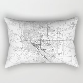 Boulder White Map Rectangular Pillow